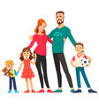 happy young family dad mom sons and daughter vector image vector image