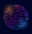 houses and flats for rent vector image vector image