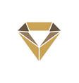 jewelry crystal diamond logo vector image