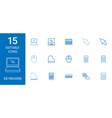 keyboard icons vector image vector image