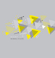 laconic gray and yellow abstract arrow composition vector image