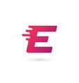 Letter E logo icon design template elements vector image