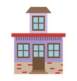 light color silhouette of house with small attic vector image vector image