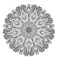 mandala beautiful vintage round pattern hand vector image