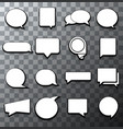 Modern halftone bubble speech icon set