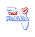 presidential vote in florida usa 2020 state map vector image vector image