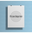 Realistic white empty Template for your Design vector image vector image