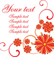 Red Floral Design with Text Space vector image vector image