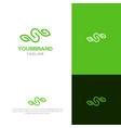 s with leaf logo design vector image