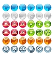 Set of the Globe Icons vector image