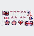 set united kingdom flag clip art vector image vector image
