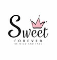 slogan graphics for t shirt sweet lettering with vector image