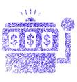 slot machine icon grunge watermark vector image vector image