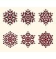snowflakes set Elegant snowflakes for vector image