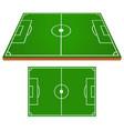 soccer field set vector image