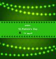 stpatricks day background design with shamrock vector image