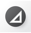 straightedge icon symbol premium quality isolated vector image