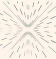 sunburst starburst black radial lines strokes vector image vector image