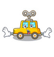 surprised cartoon clockwork toy car for gift vector image