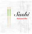 sushi restaurant background vector image vector image