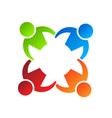 Team Hold 4 Logo Design element vector image vector image