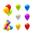 toy balloons set icons vector image vector image