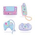 video game controller joysticks entertainment vector image