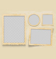 vintage photo frame frames template vector image vector image