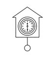 wall clock icon object time concept vector image