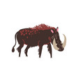 warthog wild exotic african animal vector image