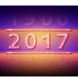 2017 new year symbol with light bulbs vector image vector image