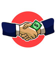 Accepting Bribes vector image vector image