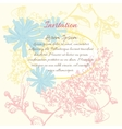 Background flower frame vector image vector image