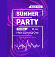 beach summer party card poster banner vector image vector image