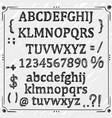 board with a set sketch symbols vector image