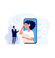 business assistant online secretary service flat vector image