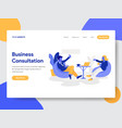 businessman doing business consultation concept vector image vector image