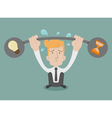 BusinessmanWeigh vector image