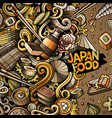 cartoon hand-drawn doodles japan food frame vector image vector image
