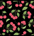 cherry pattern seamless background vector image vector image