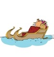 Christmas sleigh of Santa Claus vector image