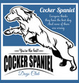 cocker spaniel - for t-shirt vector image vector image