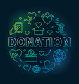 colored donation round donating vector image vector image