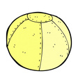 comic cartoon stitched football vector image vector image