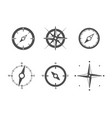 compass icons set isolated on white background vector image vector image