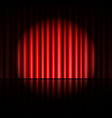 curtain of red background vector image vector image