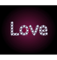 Diamond Love Word vector image vector image
