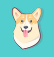 dog emoticon excited puppy vector image