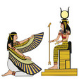 egyptian national drawing vector image vector image