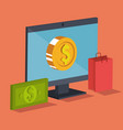 electronic commerce isometrics icons vector image vector image